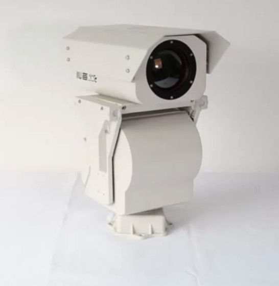 Night Vision Security PTZ Thermal Imaging Camera , Outdoor Long Range Surveillance Camera